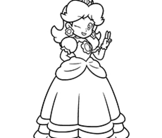 Best Princess Peach Coloring Pages For Your Little Girl