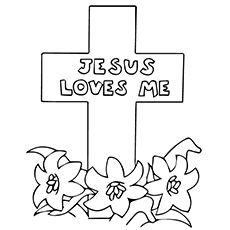 jesus on the cross coloring page # 17
