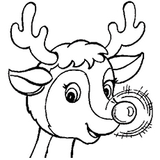 rudolph the red nosed reindeer coloring page # 3
