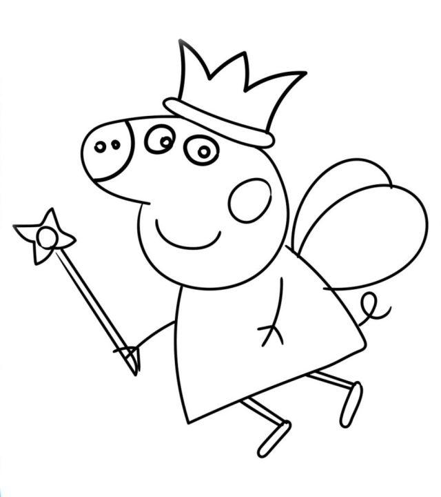 Top 30 Free Printable Peppa Pig Coloring Pages Online