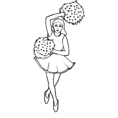 cheer coloring pages # 5
