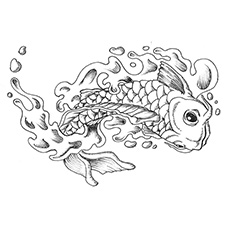 koi fish coloring pages # 9