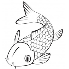 koi fish coloring pages # 4