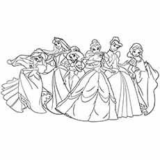 printable disney princess coloring pages # 12