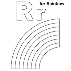 letter r coloring page # 5