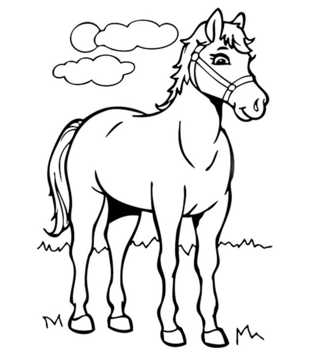 Top 21 Free Printable Horse Coloring Pages Online