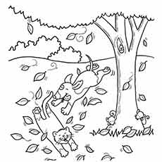 fall tree coloring page # 6