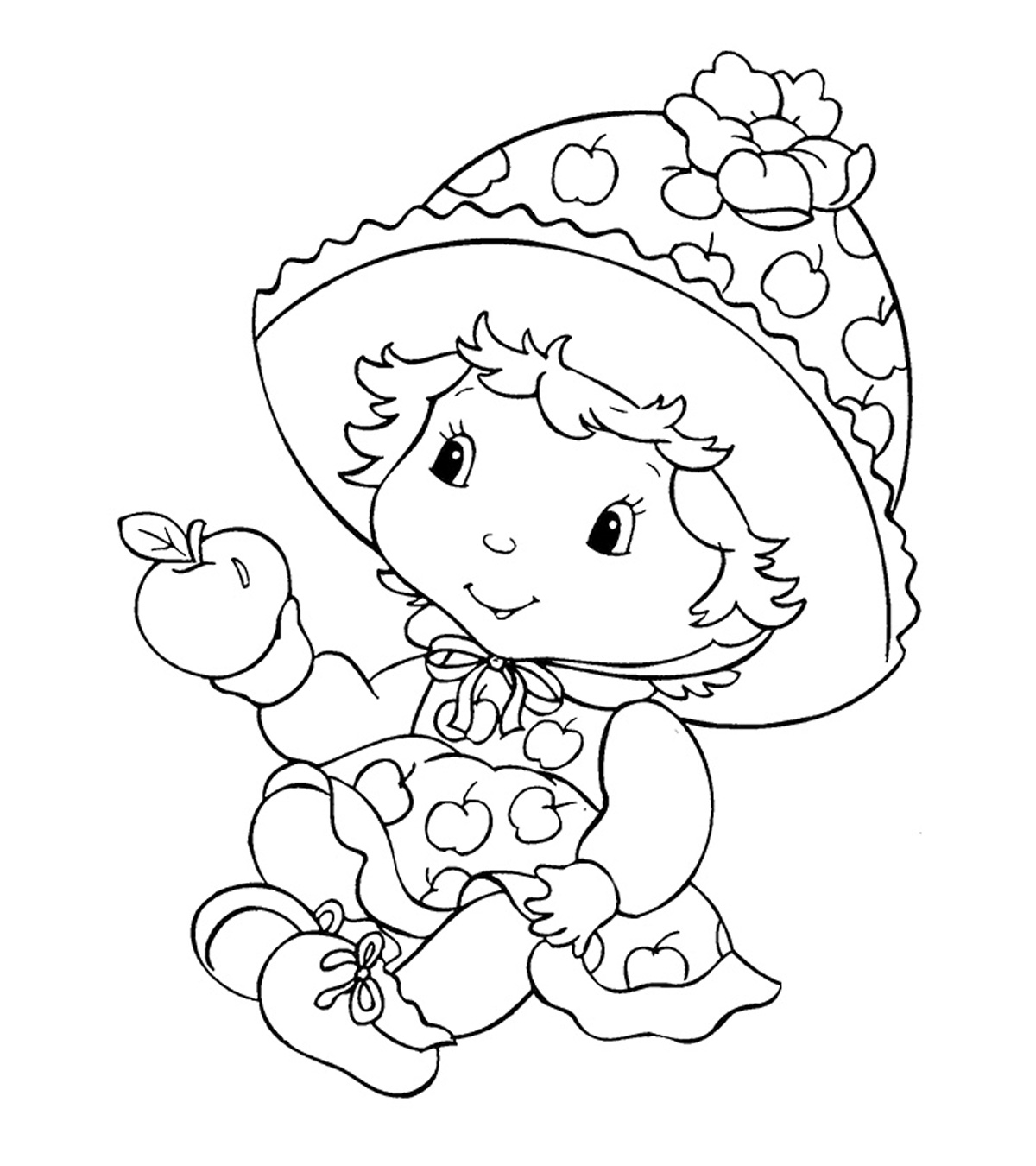 Free Printable Strawberry Shortcake Coloring Pages To