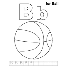 letter b coloring page # 11
