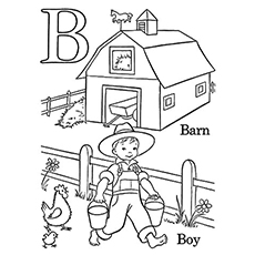 b coloring page # 8