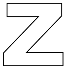 letter z coloring page # 13