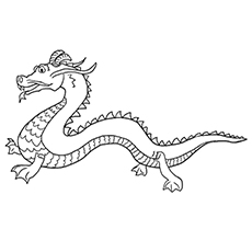 free dragon coloring pages # 3