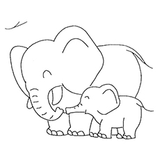 coloring pages elephant # 29