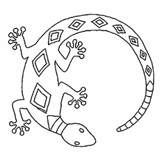 lizard coloring page # 0