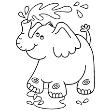 coloring pages elephant # 9
