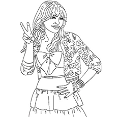 hannah montana coloring pages # 69