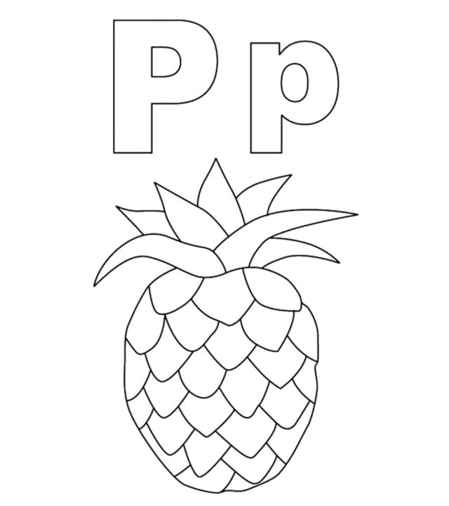 Top 24 Free Printable Letter P Coloring Pages Online