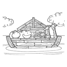 noah and the ark coloring pages # 8