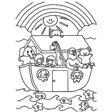 Noah Ark Coloring Pages For Preschoolers