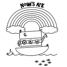 noah and the ark coloring pages # 7