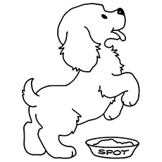 printable puppy coloring pages # 5