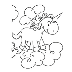printable unicorn coloring pages # 27