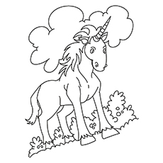 printable unicorn coloring pages # 76