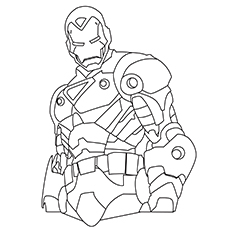 ironman coloring page # 1