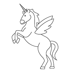 printable unicorn coloring pages # 4