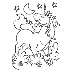 printable unicorn coloring pages # 2