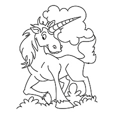 printable unicorn coloring pages # 16