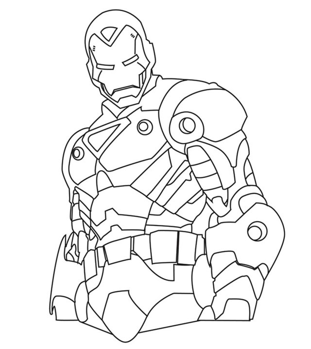 Top 21 Free Printable Iron Man Coloring Pages Online