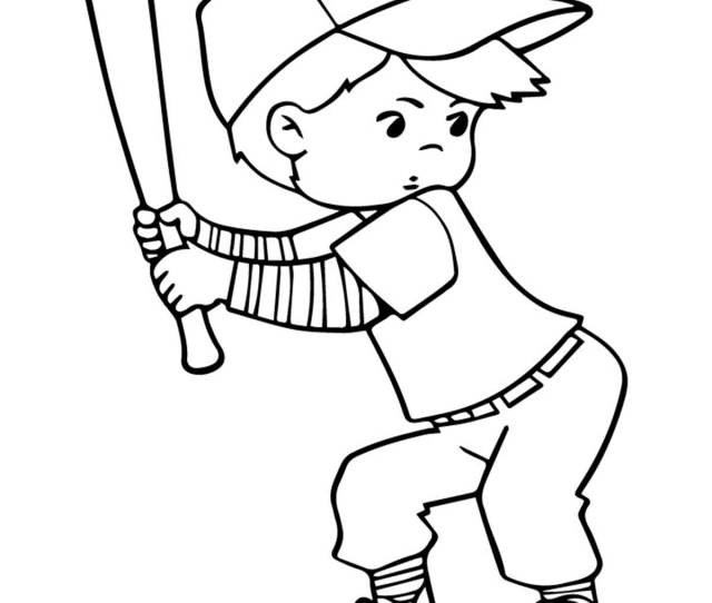 Top  Baseball Coloring Pages For Toddlers