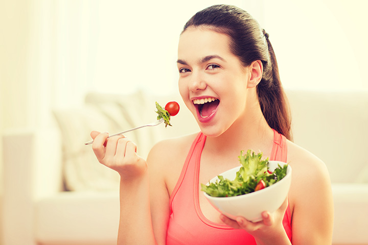 Image result for healthy food girl