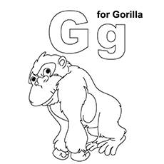 G For Gorilla Printable To Color
