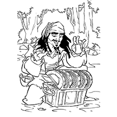 pirates of the caribbean coloring pages # 10