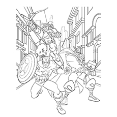 coloring pages avengers # 4