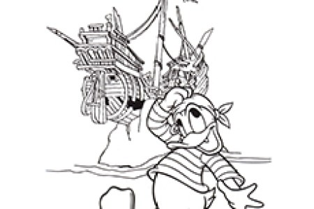 pirate map coloring page pirate costume pirate hat » Path ...