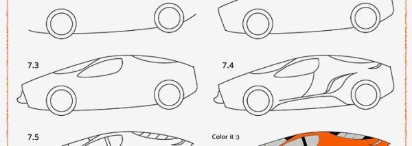 Cara Menggambar Mobil Balap keren dan canggih