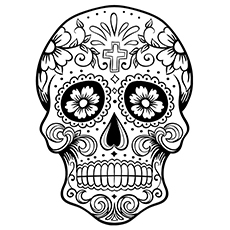 skulls coloring pages # 4