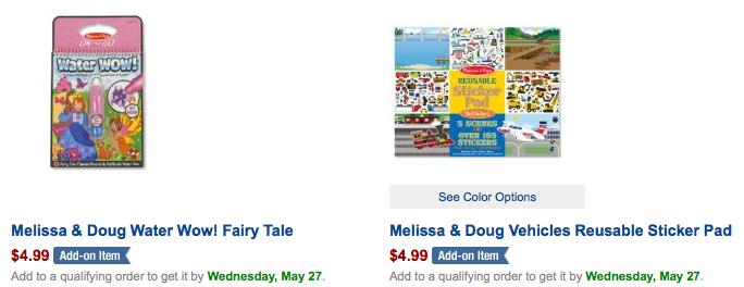 Melissa & Doug Sale on Amazon