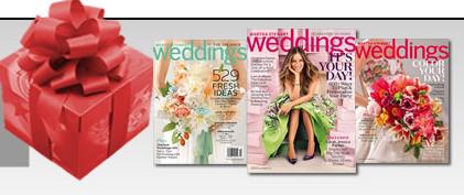 Free one-year subscription to Martha Stewart Weddings