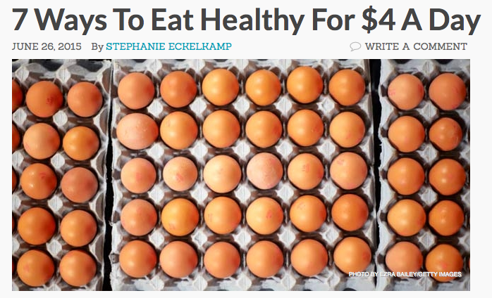 7 Ways to Eat Healthy for $4 Per Day