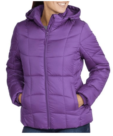 Faded Glory Women's Hooded Puffer Coat Deal