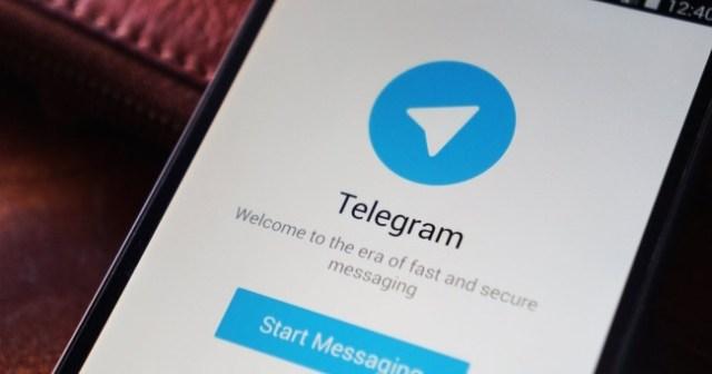 aplicación de telegram en pantalla