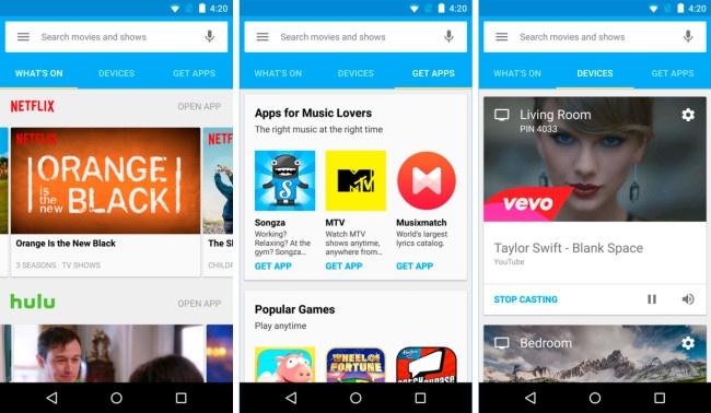 Nueva app de Android de Google Cast