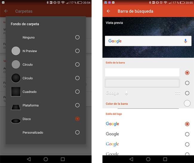 Nuevas opciones de personalización de Nova Launcher