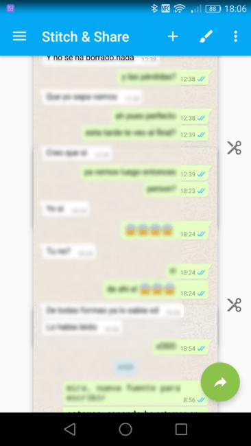 Comprobar las uniones de las conversaciones de WhatsApp