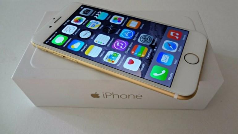 Caja de embalaje de un iPhone