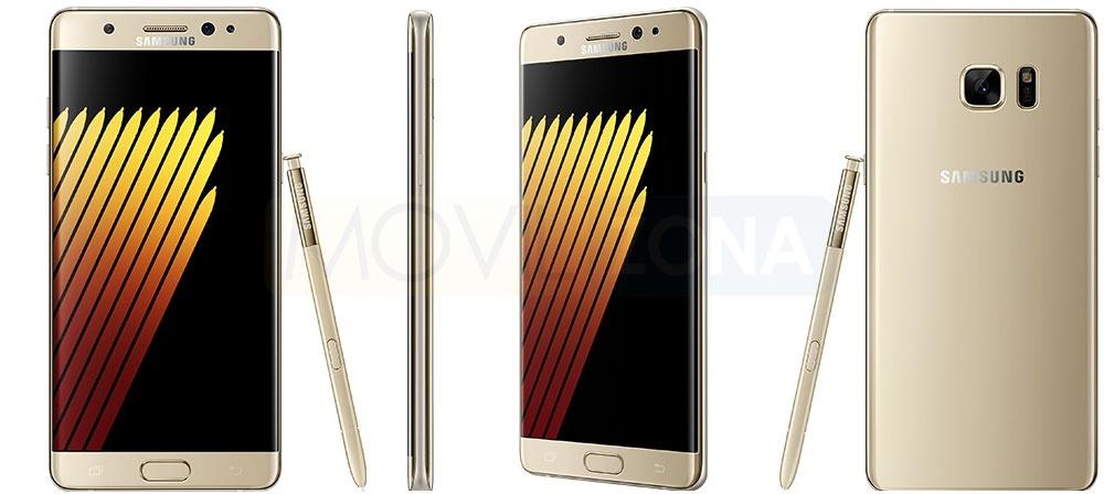 Samsung Galaxy Note 7 fotos oficiales en dorado